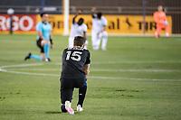 SAN JOSE, CA - SEPTEMBER 19: Tanner Beason #15 of the San Jose Earthquakes during a game between Portland Timbers and San Jose Earthquakes at Earthquakes Stadium on September 19, 2020 in San Jose, California.