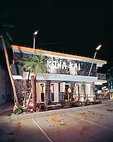 Kona Kai Motel, Wildwood, NJ - Night Entrance with tiki torches
