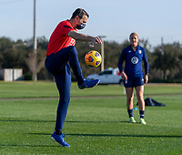 ORLANDO, FL - JANUARY 21: Vlatko Andonovski of the USWNT warms up during a training session at the practice fields on January 21, 2021 in Orlando, Florida.