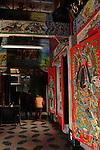 Bao-jhong Yi-min Temple, Kaohsiung -- Guardian deities watching the temple entrance.