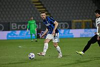 Milan Skriniar of Inter  during the  italian serie a soccer match,Spezia Inter Milan at  the STadio Picco in La Spezia Italy ,