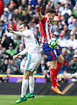 Real Madrid's Gareth Bale (l) and Atletico de Madrid's Saul Niguez during La Liga match. April 8,2018. (ALTERPHOTOS/Acero)