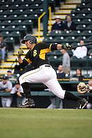 Bradenton Marauders first baseman Jose Osuna (28) during a game against the Jupiter Hammerheads on April 19, 2014 at McKechnie Field in Bradenton, Florida.  Bradenton defeated Jupiter 4-0.  (Mike Janes/Four Seam Images)
