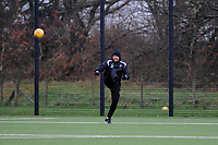 Pictured: Bjorn Hamberg. Wednesday 13 December 2018<br /> Re: Coaching staff v Members of the press game at the Fairwood Training Ground, Wales, UK.