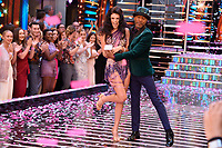"""Lauren Steadman and Danny John Jules<br /> at the launch of """"Strictly Come Dancing"""" 2018, BBC Broadcasting House, London<br /> <br /> ©Ash Knotek  D3426  27/08/2018"""