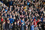 St Johnstone v Dundee United.....29.12.13   SPFL<br /> Saints fans in good voice<br /> Picture by Graeme Hart.<br /> Copyright Perthshire Picture Agency<br /> Tel: 01738 623350  Mobile: 07990 594431