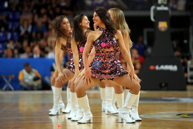 League ACB-ENDESA 201/2019.Game 38.<br /> PlayOff Semifinals.1st match.<br /> FC Barcelona Lassa vs Tecnyconta Zaragoza: 101-59.<br /> Dream Cheers.