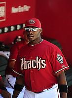 Apr. 11, 2010; Phoenix, AZ, USA; Arizona Diamondbacks outfielder Justin Upton against the Pittsburgh Pirates at Chase Field. Mandatory Credit: Mark J. Rebilas-