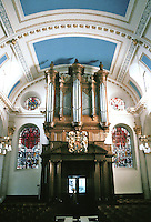 Sir Christopher Wren: St. Mary-Le-Bow, London. Interior detail. 1670-83.