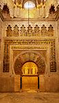 Spanien, Andalusien, Córdoba: Mezquita, innen, Gebetsnische, Mihrab | Spain, Andalusia, Córdoba: Mezquita, inside, prayer niche, Mihrab