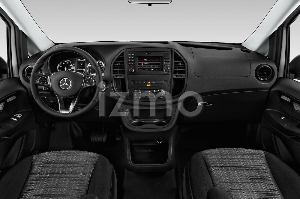 Stock photo of straight dashboard view of 2018 Mercedes Benz Metris Cargo-Van 4 Door Cargo Van Dashboard