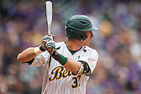 Baylor Bears third baseman Jonathan Ducoff (37) at bat during the NCAA baseball game against the LSU Tigers on March 7, 2015 in the Houston College Classic at Minute Maid Park in Houston, Texas. LSU defeated Baylor 2-0. (Andrew Woolley/Four Seam Images)