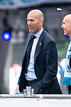 Real Madrid coach Zinedine Zidane during the celebration of the Thirteen Champions League at Cibeles Fountain in Madrid, Spain. May 27, 2018. (ALTERPHOTOS/Borja B.Hojas)