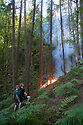 02/07/18<br /> <br /> Walkers watch as a new woodland fire breaks out less than a mile from Alton Towers at Dimmings Dale in Staffordshire.<br />  <br /> All Rights Reserved F Stop Press Ltd. +44 (0)1335 344240 +44 (0)7765 242650  www.fstoppress.com