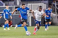 SAN JOSE, CA - MAY 01: Eric Remedi #5 of the San Jose Earthquakes dribbles the ball during a game between San Jose Earthquakes and D.C. United at PayPal Park on May 01, 2021 in San Jose, California.