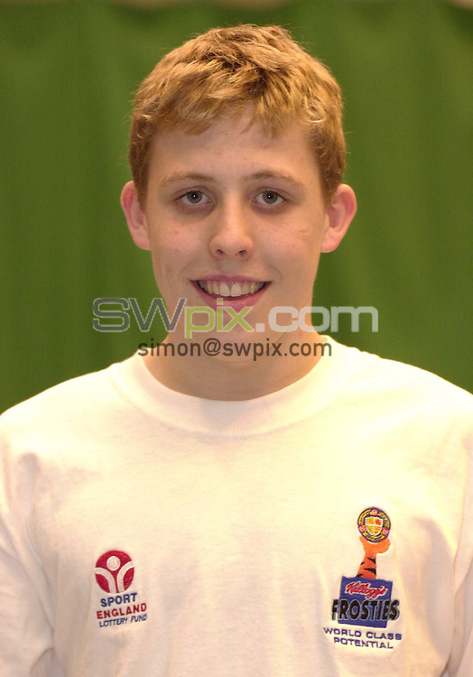 Pix:Ben Duffy/SWpix...World Class Potential Swimming camp(Boys ages 14-17)...23/02/2001..COPYRIGHT PICTURE>>SIMON WILKINSON..Matthew Edwards pictured at the British World Class swimming camp