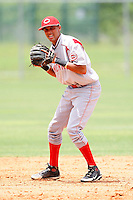 July 14, 2009:  Shortstop Billy Hamilton of the GCL Reds during a game at Boston Red Sox Training Complex in Fort Myers, FL.  The GCL Reds are the Gulf Coast Rookie League affiliate of the Cincinnati Reds.  Photo By Mike Janes/Four Seam Images