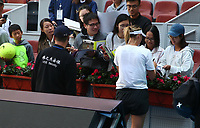 Beijing,CHINA-28th September 2017: (EDITORIAL USE ONLY. CHINA OUT)<br /> Russian-American professional tennis player Maria Sharapova arrives in Beijing and practices for the 2017 China Open, September 28th, 2017.