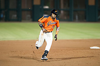 AZL Giants first baseman Nathanael Javier (47) hustles towards third base against the AZL Padres 2 on July 13, 2017 at Scottsdale Stadium in Scottsdale, Arizona. AZL Giants defeated the AZL Padres 2 11-3. (Zachary Lucy/Four Seam Images)