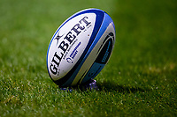 20th November 2020; AJ Bell Stadium, Salford, Lancashire, England; English Premiership Rugby, Sale Sharks versus Northampton Saints; The match ball ready for kick off