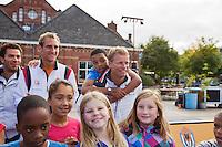 13-09-12, Netherlands, Amsterdam, Tennis, Daviscup Netherlands-Swiss,   Streettennis