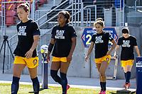 HERRIMAN, UT - JULY 4: Utah Royals FC enters the field during a game between Sky Blue FC and Utah Royals FC at Zions Bank Stadium on July 4, 2020 in Herriman, Utah.