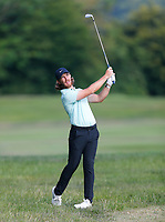 2nd July 2021; Mount Juliet Golf Club, Kilkenny, Ireland; Dubai Duty Free Irish Open Golf, Day Two; Tommy Fleetwood of England plays his second shot from the 16th rough