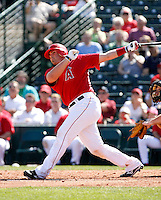 Bobby Wilson - Los Angeles Angels - 2009 spring training.Photo by:  Bill Mitchell/Four Seam Images