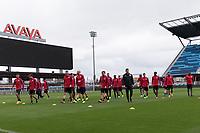 San Jose, CA - March 21, 2017: The USMNT train in preparation for their 2018 FIFA World Cup Qualifying Hexagonal match against Honduras at Avaya Stadium.
