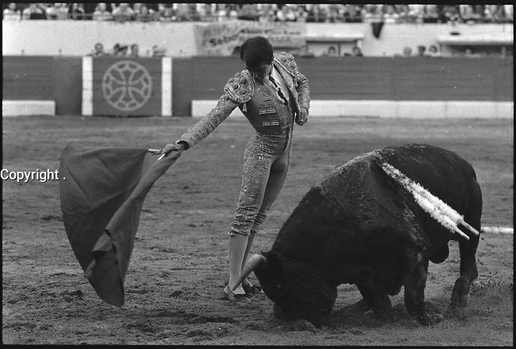 3 Octobre 1976. Vue de la corrida de Espla dans les arènes de Toulouse.