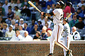 CHICAGO - CIRCA 1995:  Barry Bonds #25 of the San Francisco Giants bats played for 22 seasons with 2 different teams, was a 14-time All-Star and was a 7-time National League MVP. (David Durochik / SportPics) --Barry Bonds
