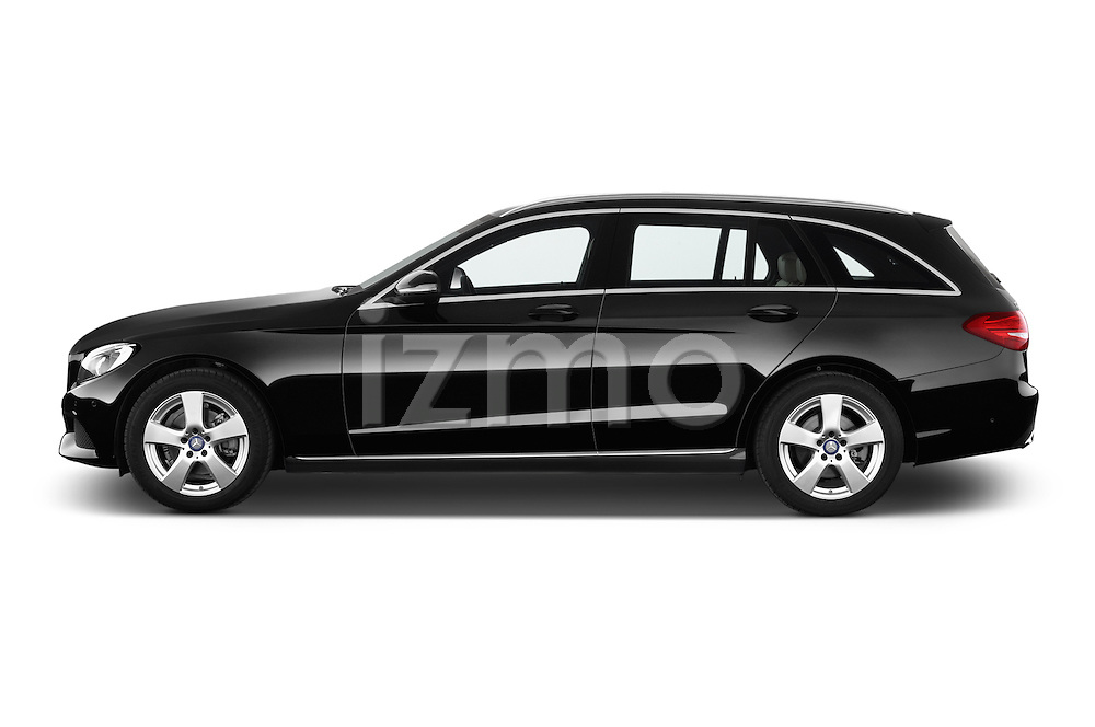 Car Driver side profile view of a 2014 Mercedes Benz C-CLASS Avantgarde 5 Door Wagon 2WD Side View