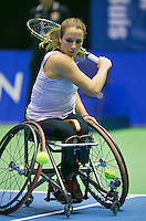 22-12-13,Netherlands, Rotterdam,  Topsportcentrum, Tennis Masters, Wheelchair final, Jiske Griffioen(NED)   <br /> Photo: Henk Koster