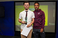 Pictured: Wayne Routledge of Swansea City during the Swans Community Trust awards dinner at the liberty stadium in Swansea, Wales, UK <br /> Thursday 02 April 2019