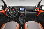 Stock photo of straight dashboard view of a 2015 Toyota AYGO X-CITE 2WD MT 5 Door Micro Car 2WD Dashboard