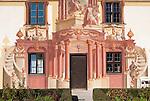 Germany, Upper Bavaria, Oberammergau: facade paintings at Pilatus House | Deutschland, Bayern, Oberbayern, Oberammergau: Lueftlmalerei am Pilatushaus