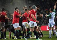 Referee Jaco Peyper penalises the Lions during the 2017 DHL Lions Series rugby union match between the NZ Maori and British & Irish Lions at Rotorua International Stadium in Rotorua, New Zealand on Saturday, 17 June 2017. Photo: Dave Lintott / lintottphoto.co.nz