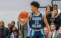 WASHINGTON, DC - FEBRUARY 8: Jeff Dowtin #11 of Rhode Island moves up court during a game between Rhode Island and George Washington at Charles E Smith Center on February 8, 2020 in Washington, DC.