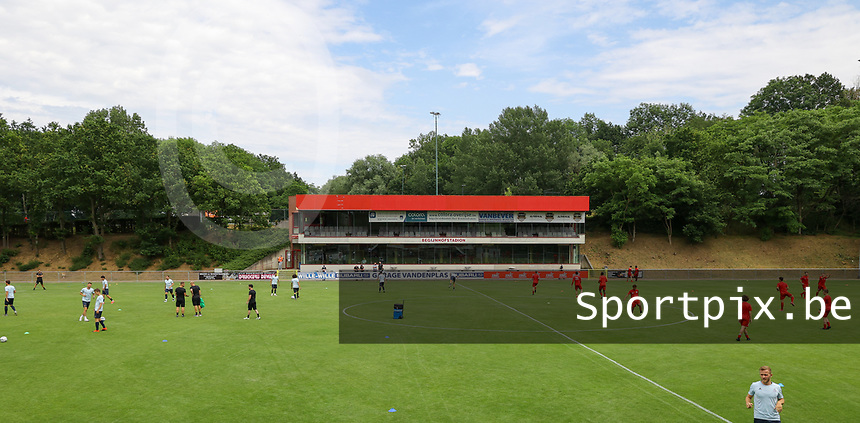 Illustrative photo of the warm up before preseason friendly soccer game between Tempo Overijse and Royale Union Saint-Gilloise, Saturday 29th of June 2021 in Overijse, Belgium. Photo: SPORTPIX.BE | SEVIL OKTEM
