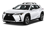 2019 Lexus UX 200 5 Door SUV Angular Front stock photos of front three quarter view
