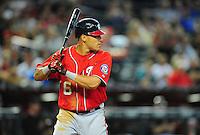 Jun. 4, 2011; Phoenix, AZ, USA; Washington Nationals shortstop Ian Desmond against the Arizona Diamondbacks at Chase Field. Mandatory Credit: Mark J. Rebilas-
