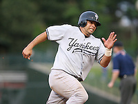 2007:  Raul Chavez of the Scranton Wilkes-Barre Yankees, Class-AAA affiliate of the New York Yankees, during the International League baseball season.  Photo by Mike Janes/Four Seam Images