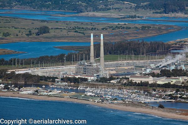 aerial photograph of Moss Landing, Monterey County, California