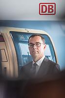 Alexander Kaczmarek, Konzernbevollmaechtigter der DB AG und Peter Buchner (im Bild), Vorsitzender der Geschaeftsfuehrung der S-Bahn stellten am Mittwoch den 18. Juli 2018 die Qualitaetsoffensive der S-Bahn Berlin vor.<br /> Es sollen mehr als 30 Millionen Euro investiert werden um die Infrastruktur zu modernisieren und zusaetzliche Fahrzeugfuehrer ausgebildet werden.<br /> 18.7.2018, Berlin<br /> Copyright: Christian-Ditsch.de<br /> [Inhaltsveraendernde Manipulation des Fotos nur nach ausdruecklicher Genehmigung des Fotografen. Vereinbarungen ueber Abtretung von Persoenlichkeitsrechten/Model Release der abgebildeten Person/Personen liegen nicht vor. NO MODEL RELEASE! Nur fuer Redaktionelle Zwecke. Don't publish without copyright Christian-Ditsch.de, Veroeffentlichung nur mit Fotografennennung, sowie gegen Honorar, MwSt. und Beleg. Konto: I N G - D i B a, IBAN DE58500105175400192269, BIC INGDDEFFXXX, Kontakt: post@christian-ditsch.de<br /> Bei der Bearbeitung der Dateiinformationen darf die Urheberkennzeichnung in den EXIF- und  IPTC-Daten nicht entfernt werden, diese sind in digitalen Medien nach §95c UrhG rechtlich geschuetzt. Der Urhebervermerk wird gemaess §13 UrhG verlangt.]