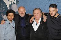 rachid djaidani gerard depardieu et sadek en photocall pour le film tour de france - film selectionne dans le cadre de la quinzaine des realisateurs au Festival de Cannes 2016 - theatre croisette a cannes le dimanche 15 mai 2016