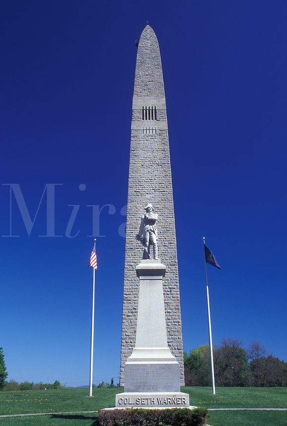obelisk, battle monument, Vermont, VT, Bennington, The Bennington Battle Monument, a 306 foot obelisk, is the tallest structure in Vermont in Bennington in the spring.
