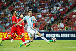 Ignacio Fernandez of Argentina (R) in action during the International Test match between Argentina and Singapore at National Stadium on June 13, 2017 in Singapore. Photo by Marcio Rodrigo Machado / Power Sport Images