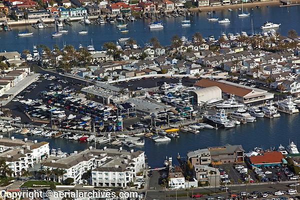 aerial photograph Balboa Island Newport Beach Orange County California