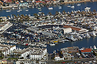 aerial photograph Balboa Island Newport Beach Orange County California