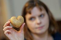 2019 01 02 Heart shaped potato, Swansea, UK